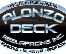 Alonzo Deck Resurfacing - Epoxy Pebblestone